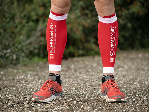 MANCHON DE COMPRESSION MOLLET COMPRESSPORT - ROUGE
