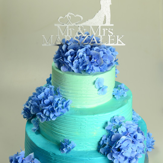 Niebieskie Hortensje