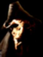 A demonic figure in a tricorn hat