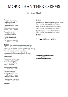 More than there seems, lyric sheet.bmp
