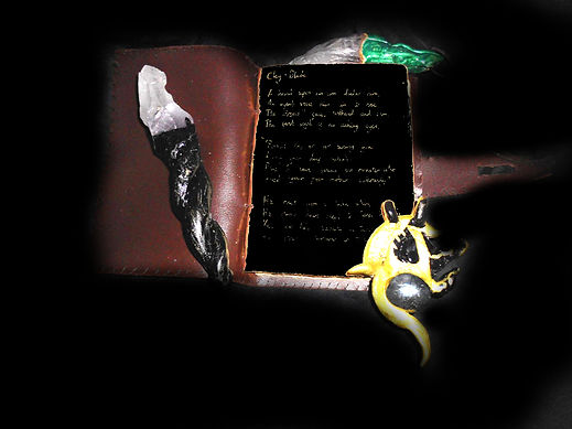 A book and talismans