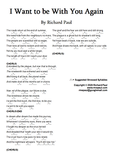 I want to be with you again lyric sheet.