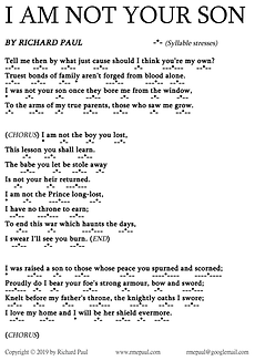 I'm Not Your Son Lyrics Sheet RMEPaul.pn