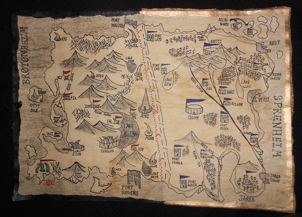 Map of Sprenheim and Brotonheim (rmepaul)