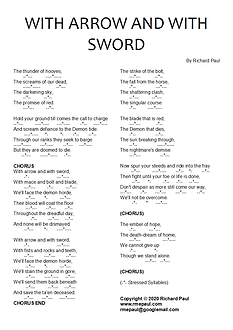 With Arrow and With Sword - Lyric Sheet.