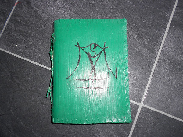 Homemade book (green)