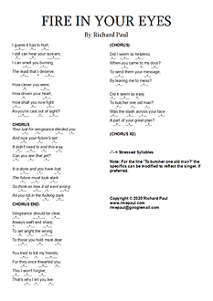 Fire in your Eyes Lyric Sheet.bmp