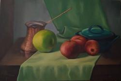 תפוחים על בד, 2019