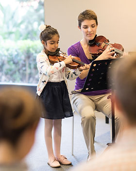 Violin Student with Teacher