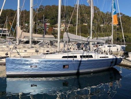Vinyl Boat Wrap - Hanse 388 Yacht in Ice Blue