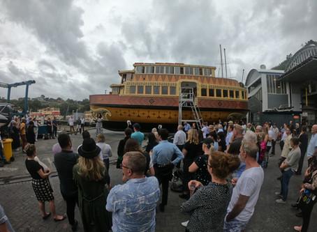 Pacific Island Womens Artwork applied to Radar (Haiveta) Ferry at Noakes Sydney