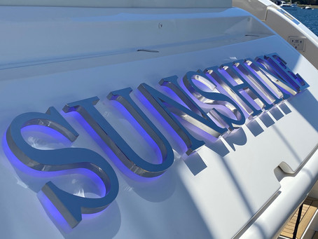 Stainless Steel LED Back-lit Boat Names Recent Projects