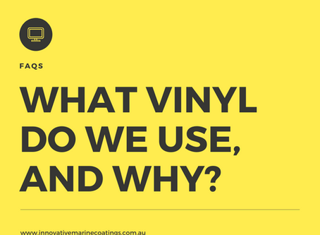 What Vinyl Suppliers and Products do we use for boat wraps, and why?