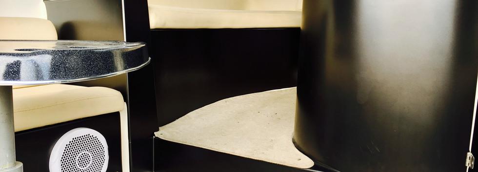 INTERIOR DESIGN WRAP SATIN BLACK BOAT
