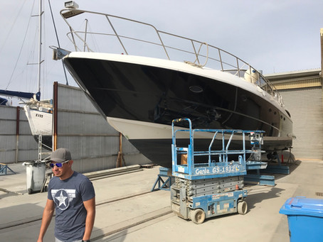 Vinyl Boat Wrap - Cruiser Yacht 560 Express in Gloss Black