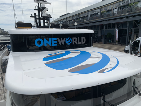 Branding on Superyacht M/Y ONEWORLD