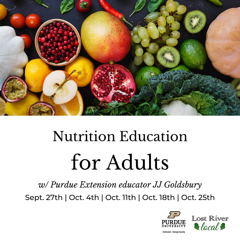 Nutrition Education for Adults with JJ Goldsbury