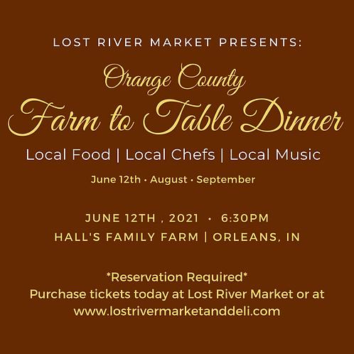 Farm to Table Dinner : Hall's Family Farm in Orleans