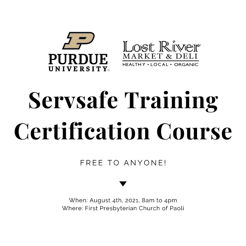 ServSafe Training & Certification by Purdue Extension