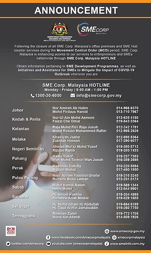 SMECorp helplines and contacts