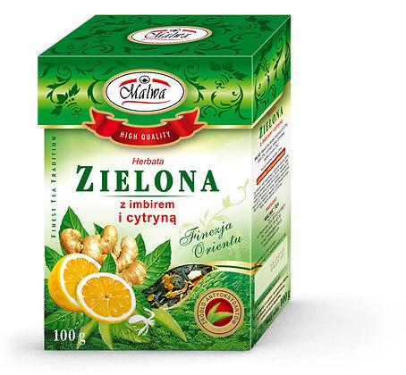 MALWA GREEN TEA WITH GINGER & LEMON 100g