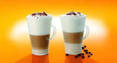 SZKLANKA CAFFE LATTE 400ml *2 pack*