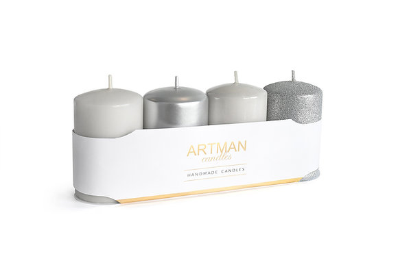 4 pack candles *mixed colors*