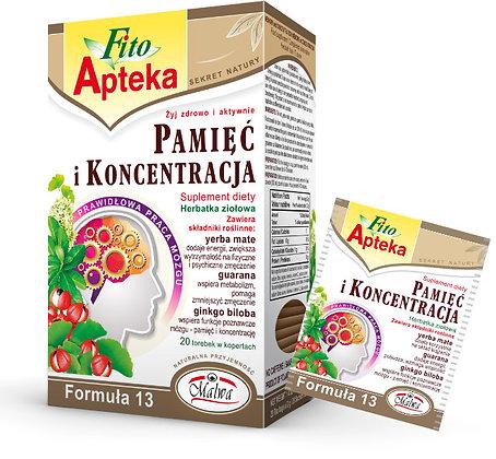 MALWA PAMIEC I KONCENTRACJA TEA {20 tea bags}