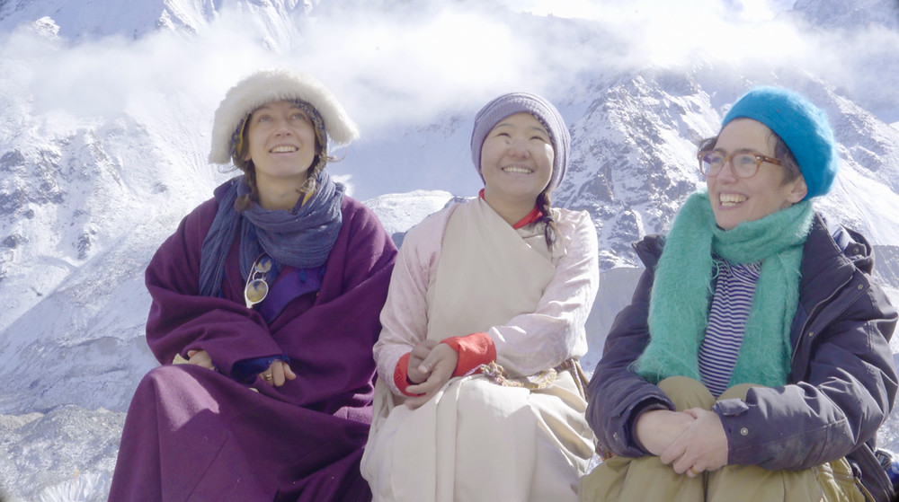 Emily, Jangu and I at Mt. Kanchenjunga base camp