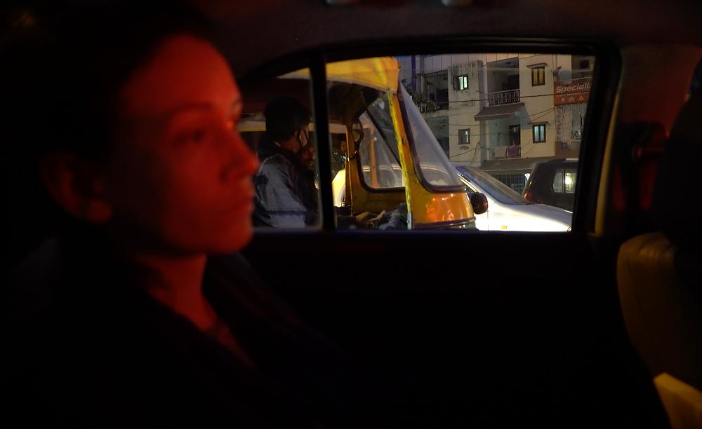 Elise Wortley Arriving in Delhi, Photo by Emily Almond Barr