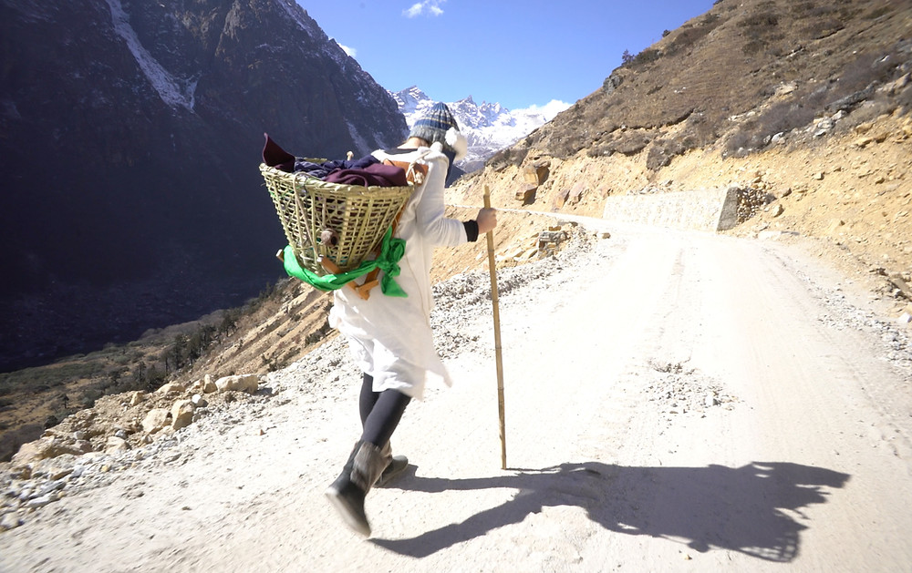 Elise Wortley, Woman with Altitude's stick, Sticky