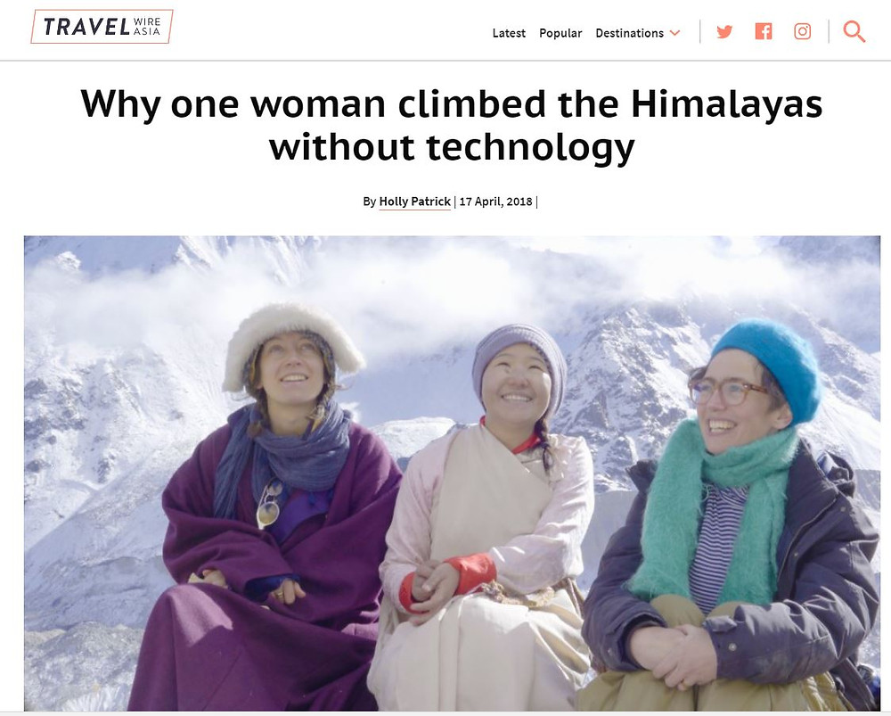 Woman with Altitude team, press coverage