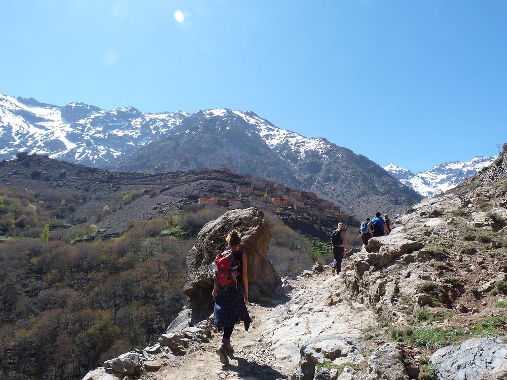 Elise Wortley, trekking to Mt.Toubkal, Morocco