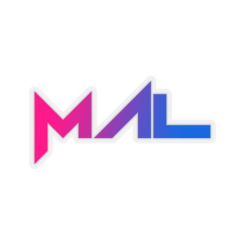 MAL Gradient Logo Sticker