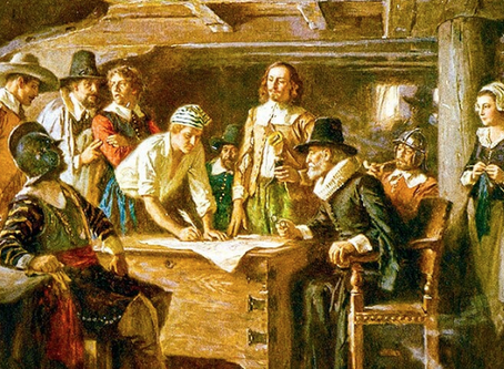 Mayflower Compact signed in November 1620