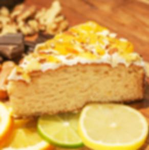 Get a bite orange vanila cake