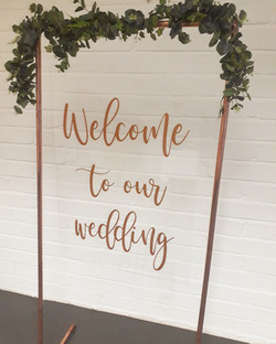 PERSPEX & COPPER SIGN