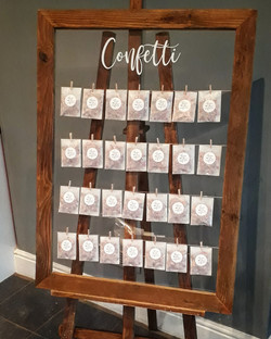 Confetti frame with easel