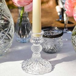 Glass candlestick
