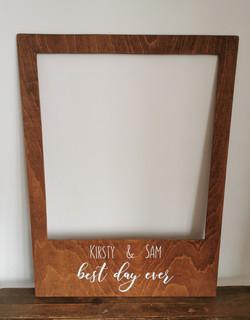 Personalised photobooth frame