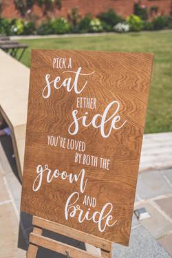 A2 - Pick a seat sign - wood