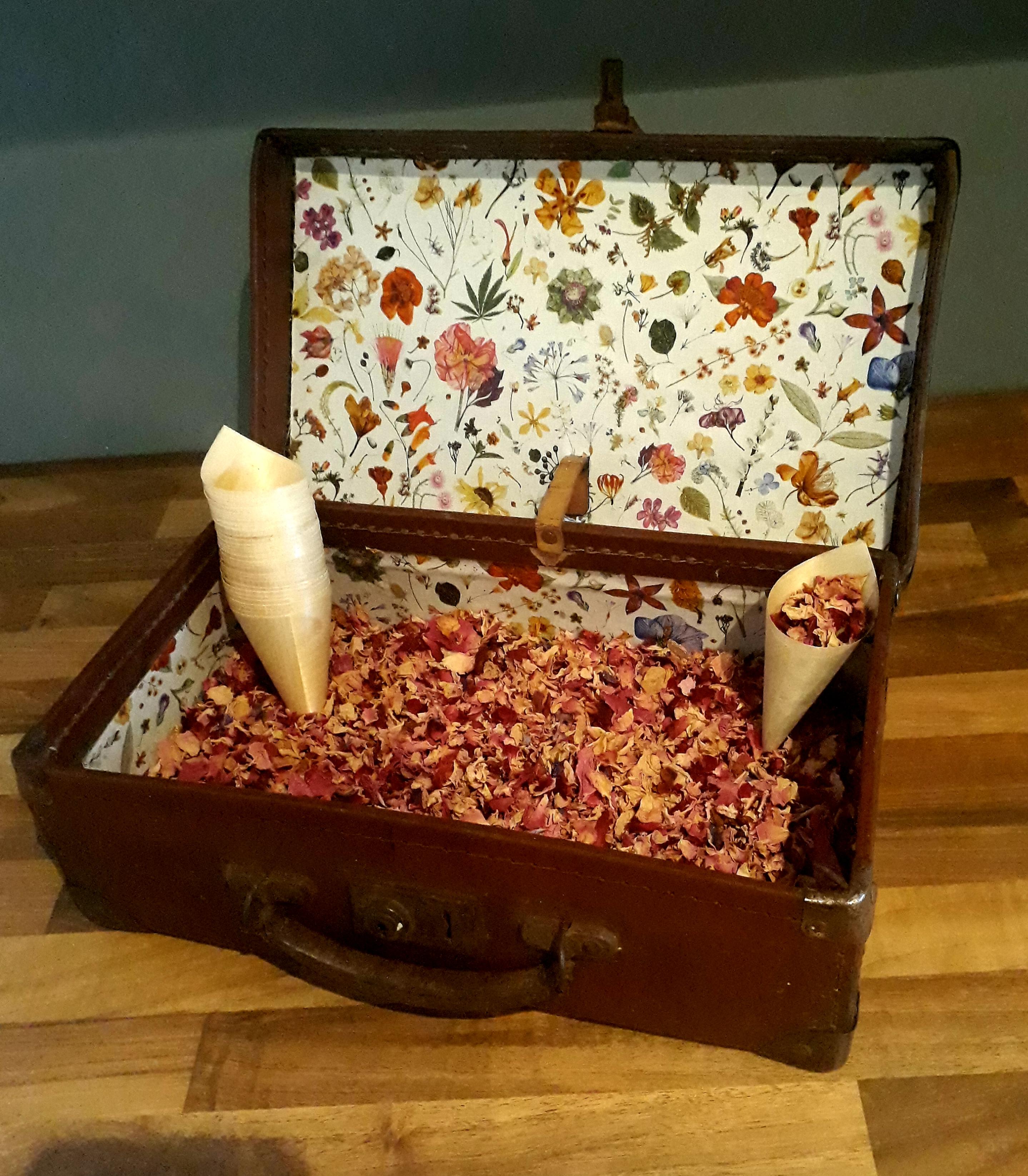 Confetti suitcase