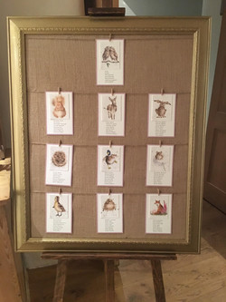 Gold frame table plan