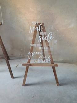 A2 Pick a seat sign & easel - perspex