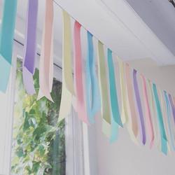 Pastel ribbon bunting