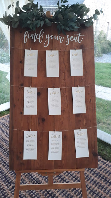 Table plan & easel