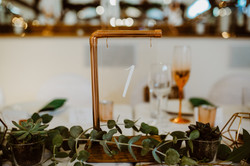 COPPER & WOOD WITH PERSPEX NUMBER