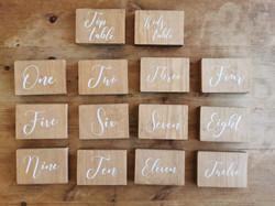 Wooden calligraphy