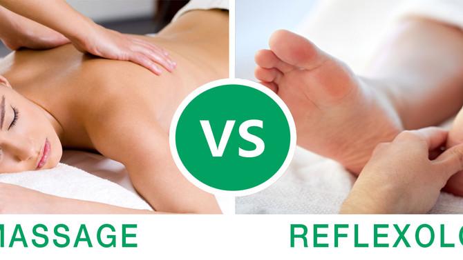 Reflexology vs. Massage