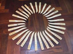 Facas em madeira- Workshop Defesa pessoal